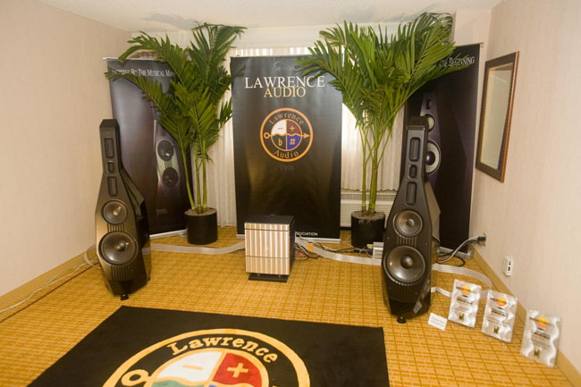 Lawrence Audio speakers on Jeff Rowland electronics