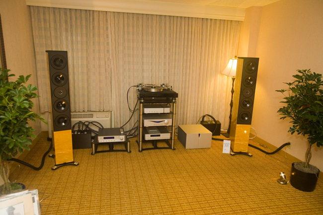 Neat Acoustics Ultimatum XL10 speaker on Audia Flight electronics