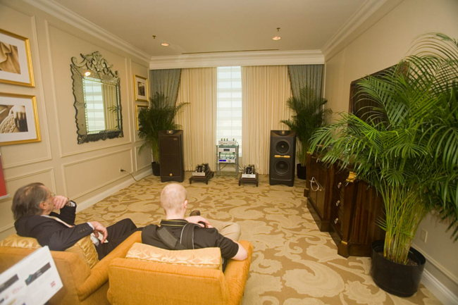 Long view of the Cary on Tannoy speakers room