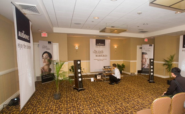 The AudioNET room