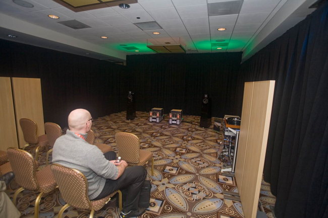 The Audio Power Labs room from the back row