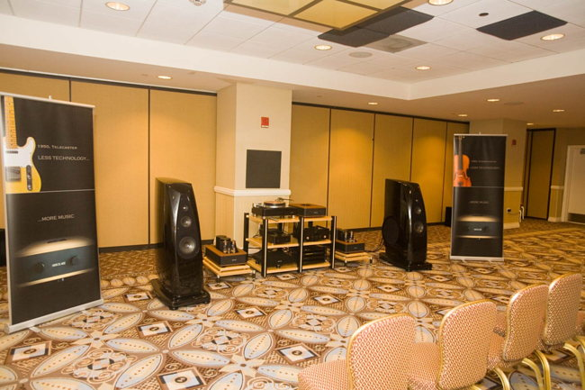 Rockport speakers on Absolare speakers