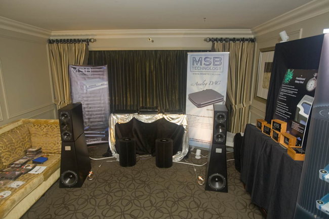 MSB amps and digital driving YG Acoustics speakers